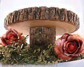 Wood slab stand! Rustic cake stand, wedding cake stand, wood slice cake stand, wood cake stand, wood, cake base.