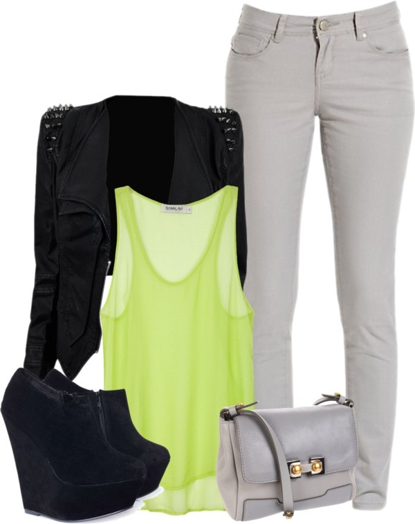 """""""Lime Green Shirts Make me Crazy!"""" by milica-1234 on Polyvore"""