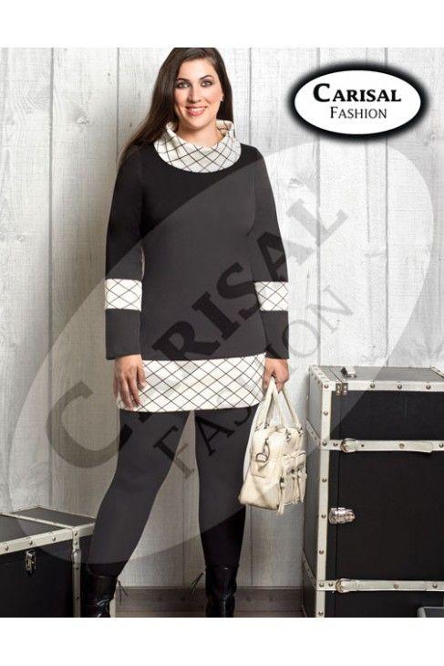 Leggings básicos negros de carisal fashion tallas disponibles 44 a 60. www.monanva.com