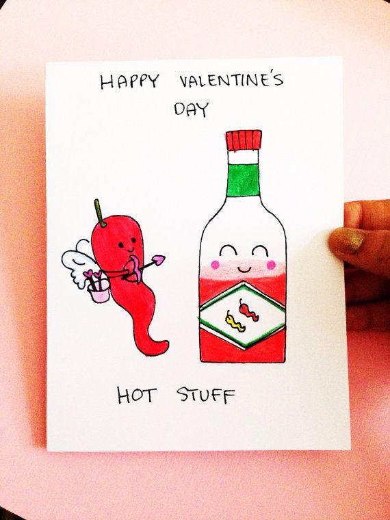 Happy Valentines Day Hot Stuff Funny Valentine Card Punny