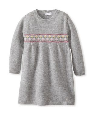 54% OFF Il Gufo Kid's Sweater Dress (Steel)
