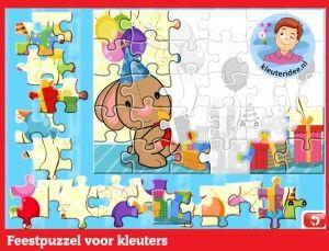 Party Puzzle pre deti v predškolskom veku na interaktívnu tabuľu alebo počítačovej kleuteridee.nl