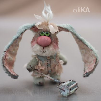 Ксюня - мятный,зайка,заяц,мини мишки,зайка тедди,зайчонок,вискоза,хлопок