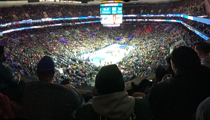 Love being a Sixers season ticket holder!! Eagles were here tonight  and the place is going crazy.  Lets go Sixers.  #sixers #philly #philadelphia #philadelphiaeagles #philadelphia76ers #city #brotherlylove #nba #nfl #superbowl #basketball #football #instagood #seasonticketholder #instagood #bleedgreen #eaglesnation #76ers #seasontickets #flyeaglesfly