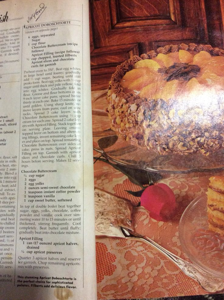 Apricot Doboschtorte From March 1982 Woman's Day Dessert collection