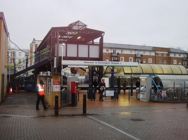 Kensington (Olympia) Railway Station (KPA) in Kensington, Greater London