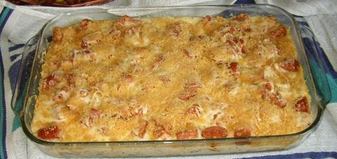 Polish Reuben Casserole... I had this recently, and it's good!  Note to self, use Kluski noodles.