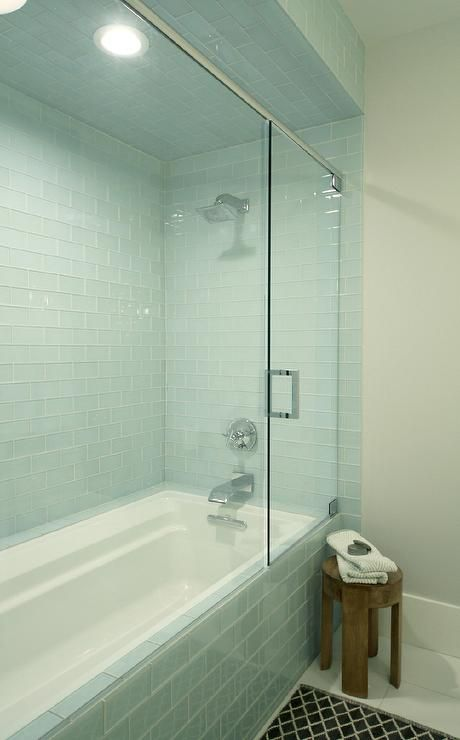 Fabulous Bathroom Features A Drop In Tub Shower Combo