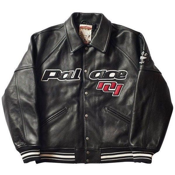 PALACE LONDON AVIREX JACKET BLACK ($1,110) ❤ liked on Polyvore featuring jackets