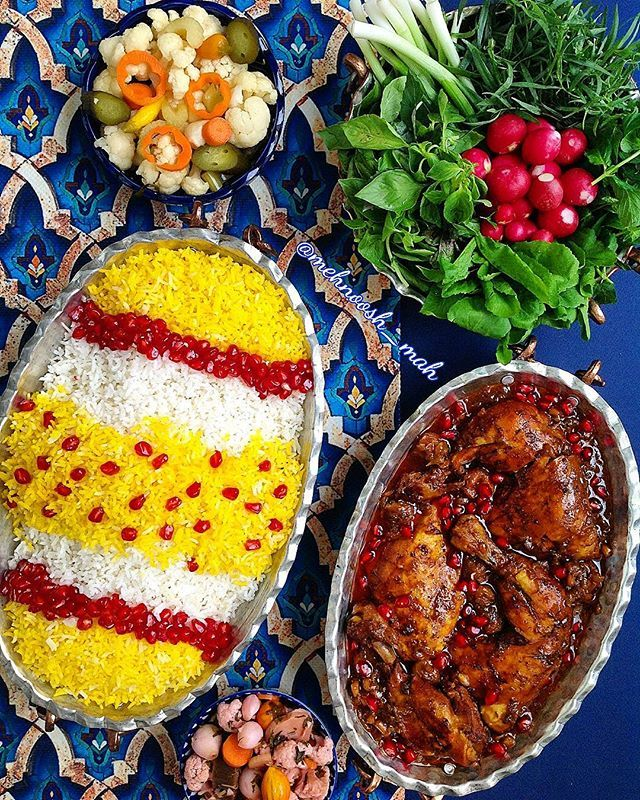 morghe_ nardoon ;Persian chicken stew with pomegranate and plums