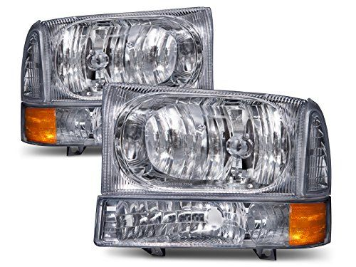 Super Duty/Excursion Euro Headlights 4 Piece Set Driver/Passenger Side - Meets or exceeds DOT/SAE standards, with particular consideration for photometric and safety compliance. There is a special coating on the lens surface that prevents hazing and fading, ensuring proper illumination and operational safety. Rigorous and accelerated cycling tests are carried out to e...