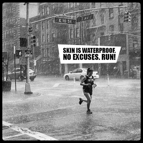 Skin is waterproof, no excuses... run!  Come get your fitness on at Fitness Together in Novi, MI!  Get personal one-on-one-training, a nutrition guideline, and other services that will change your life for the better!  Call (248) 348-9230 or visit our website www.fitnesstogether.com/novi for more information!