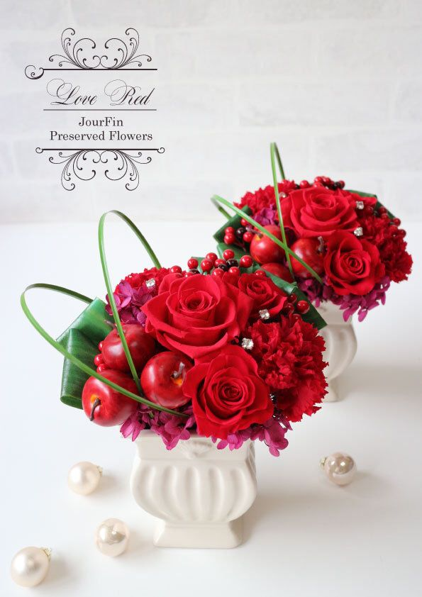 『Love Red』Red Rose Arrangment 『Jour Fin』Preserved flower and artificial flower salon&shop in ashiya JAPAN http://jourfin.shopinfo.jp/ オンラインショップhttp://jourfin.com ブログhttp://ameblo.jp/jourfin