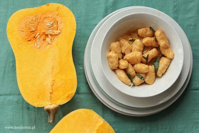 Pumpkin gnocchi with brown butter and sage / Dyniowe gnocchi z palonym masłem i szałwią