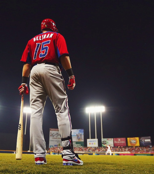 #STLCards OF Carlos Beltrán playing for Puerto Rico in the #2013WBC.