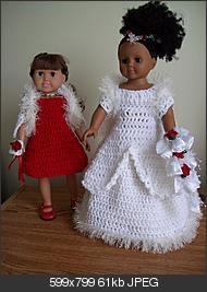 really cute american girl doll wedding dress (free pattern to crochet)