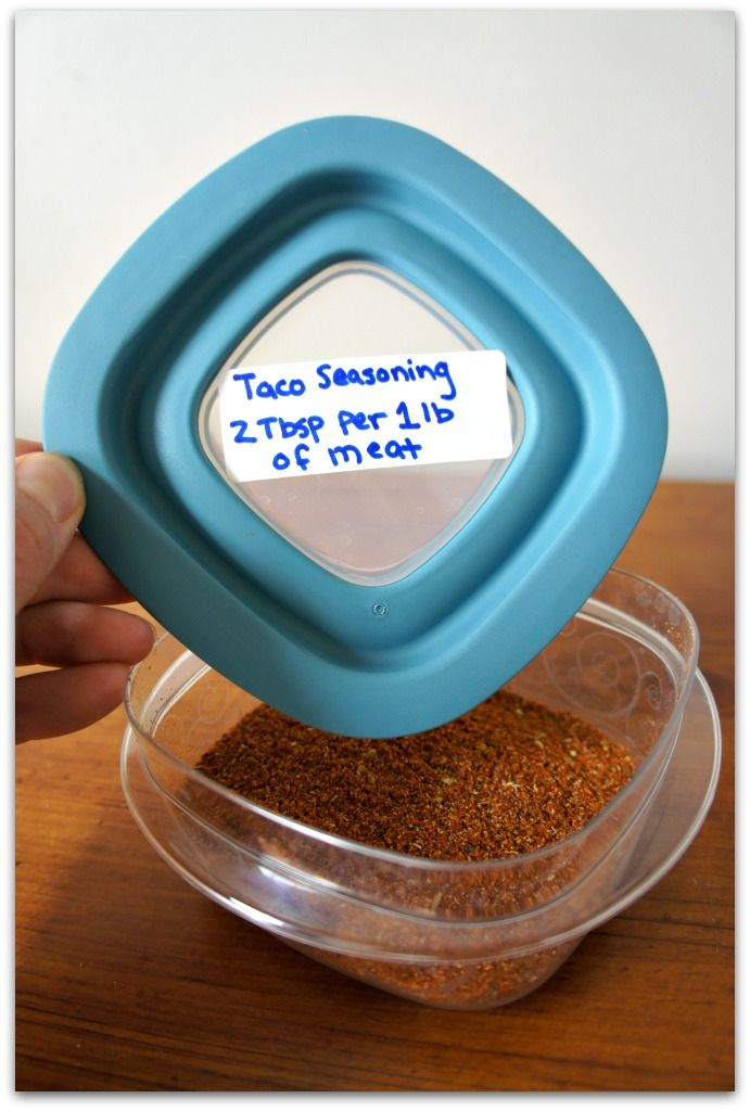 make your own taco seasoning...use 2 Tbsp per 1 lb of meat