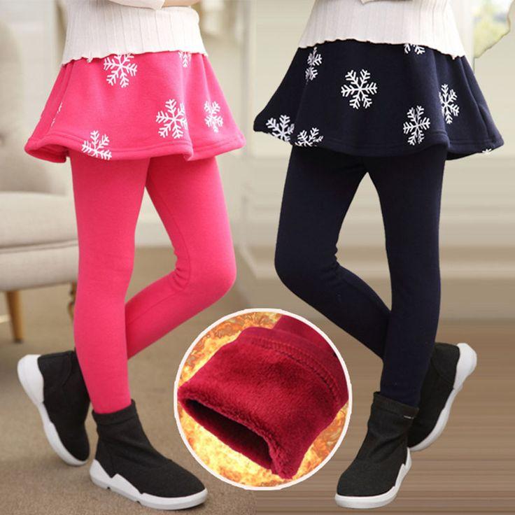 New Arrival 2016 Winter Retail Girl Leggings Girls Skirt-pants Cake Skirt Girls Warm Pants Kids Leggings Skirt-pants Cake Skirt