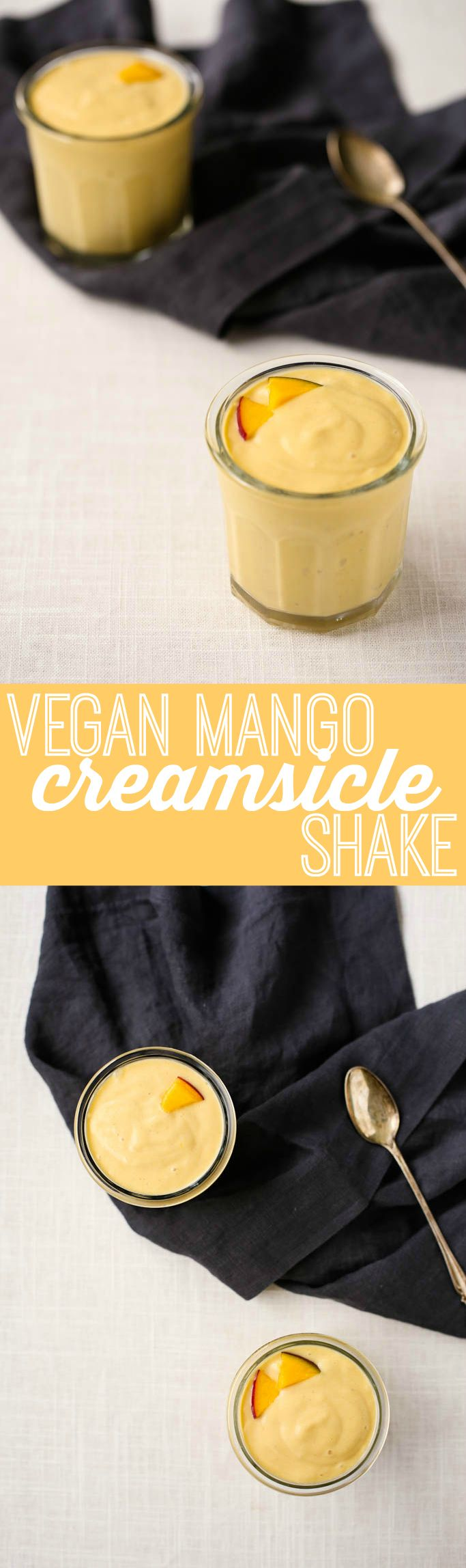 Dreamy Mango Creamsicle Smoothie | Incredibly creamy, refreshing, and silky smooth!