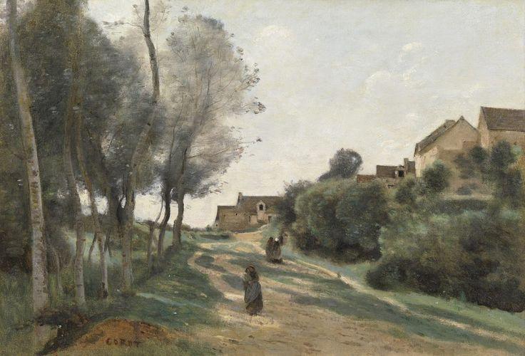The Athenaeum - Le Chemin de Méry, près La Ferté-sous-Jouarre (Jean-Baptiste-Camille Corot - )