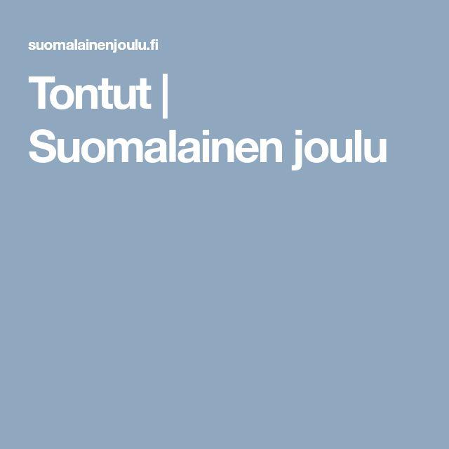 Tontut   Suomalainen joulu