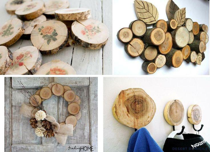 ¡Mirad todo lo que se puede elaborar a partir de troncos de un árbol! ¿Con qué idea os quedáis?