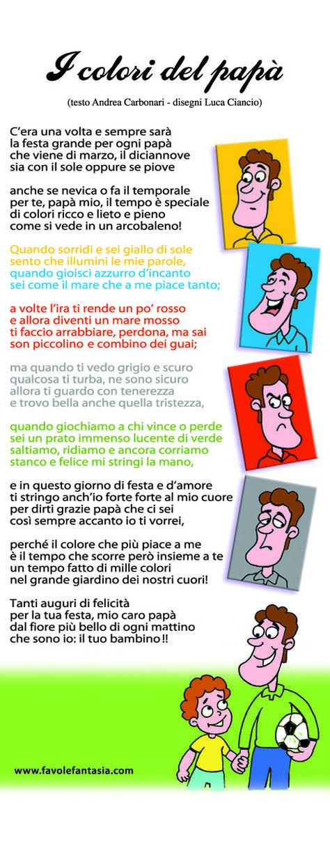 """Filastrocca """"I colori del papà"""" di Andrea Carbonari"""