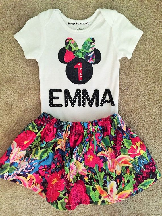 Minnie Mouse Luau Birthday dress up outfit Dess first by MM4CC