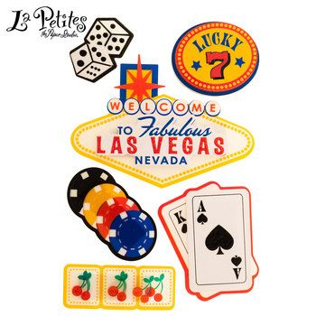 Las Vegas 3D Sticker Embellishments