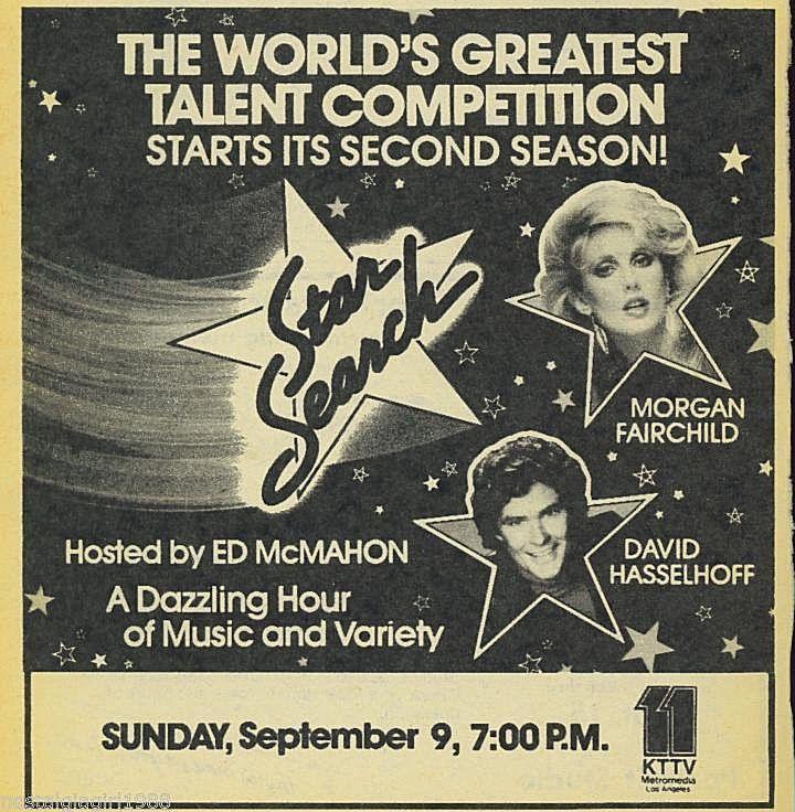 1984 MORGAN FAIRCHILD~KTTV Tv Ad~STAR SEARCH~ED McMAHON~HASSELHOFF~L.A. 11