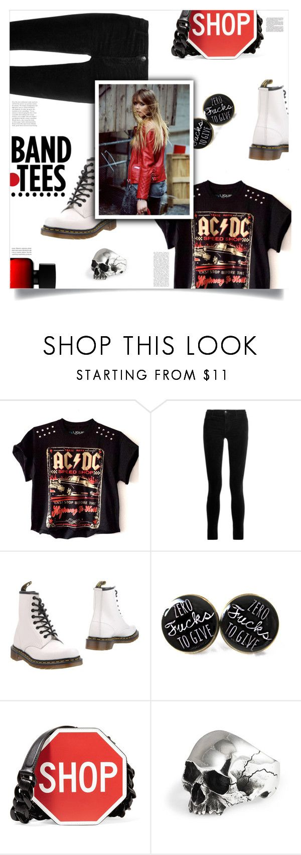 """Rock of Ages, Adam Shankman (2012)"" by agla83 ❤ liked on Polyvore featuring J Brand, Dr. Martens, Moschino, The Collection by Phuong Dang and Oris"