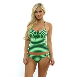 Oakley Women's Eco Green Tankini Top with Tie Side Hipster Bottoms | Overstock.com Shopping - Top Rated Oakley Two-piece Swimwear
