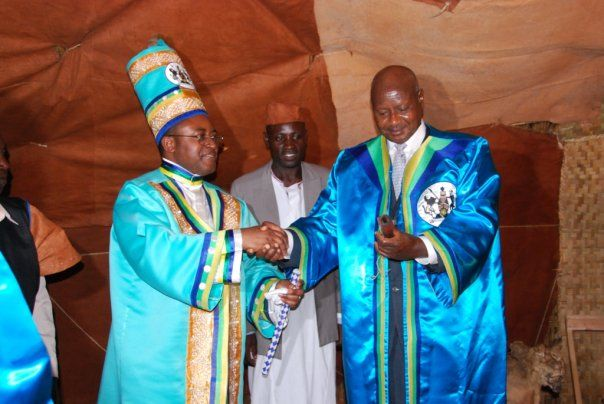 President Yoweri Museveni during the coronation Omusinga Charles Wesley Mumbere