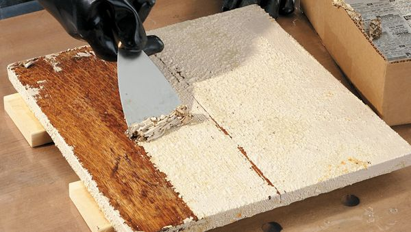 How do you remove paint or varnish from wood without harming the environment? HANDY has the answer.
