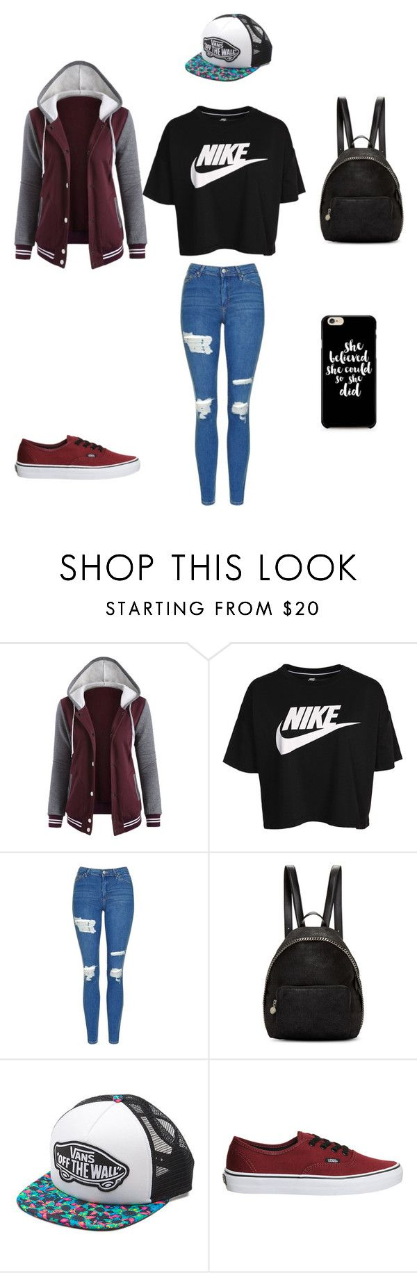 """Untitled #26"" by moriartylauren on Polyvore featuring NIKE, Topshop, STELLA McCARTNEY and Vans"