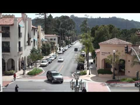 Beautiful Downtown Santa Barbara, California in HD