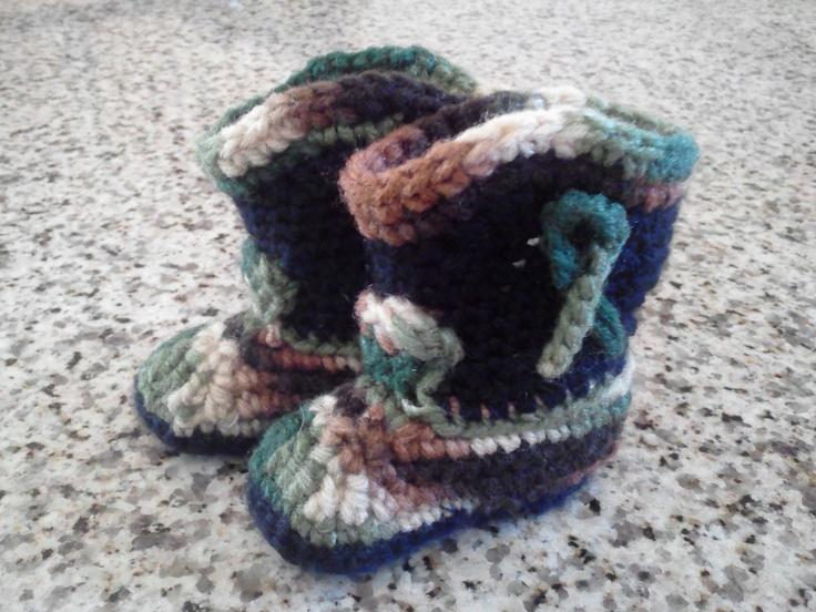 Camo Crochet cowboy boots