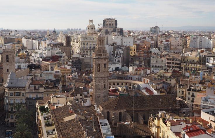 Widok na Walencję z wieży Miguelete