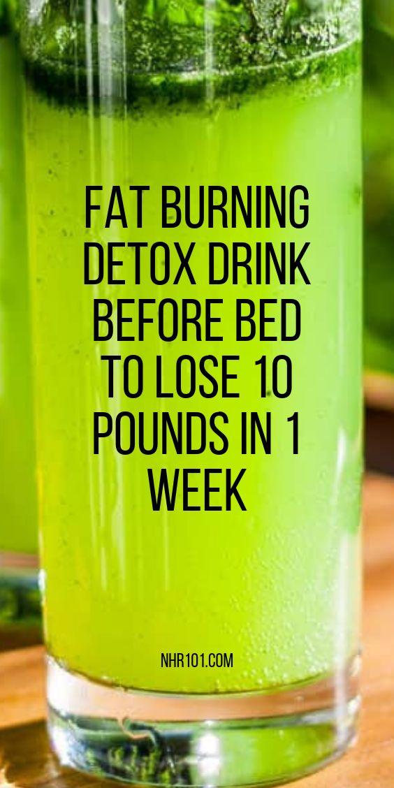 Fat Burning Detox Drink Before Bed