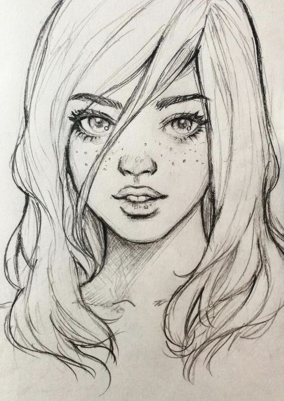 Рисунки девочек карандашом картинки