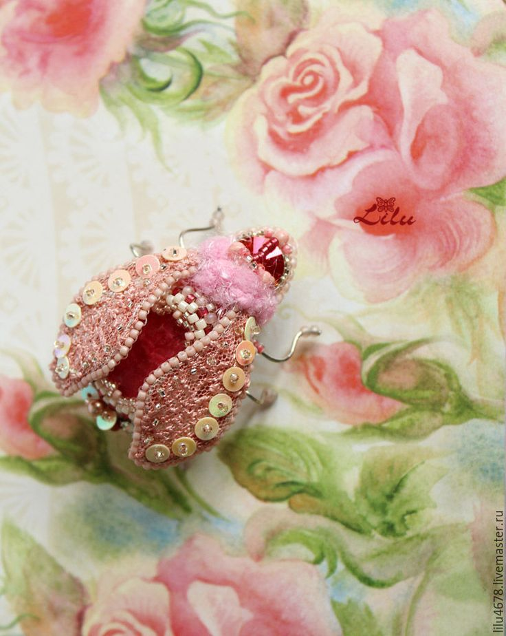 """Купить Розовая брошь мотылёк """"Мария Антуанетта"""" - розовый, светло-розовый, пудровый, зефир"""