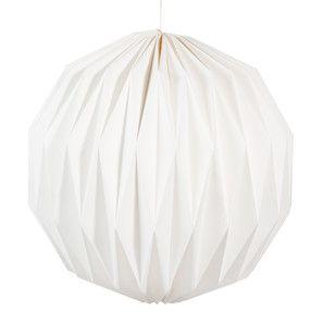 Witte papieren ORIGAMI hanglamp D 39 cm