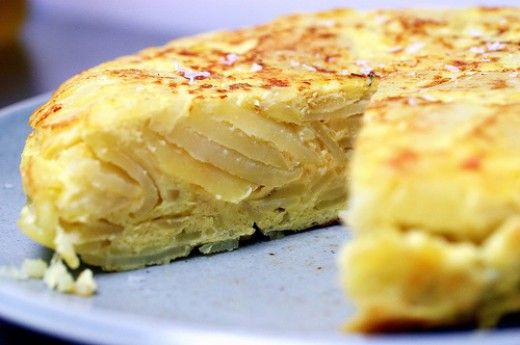 Spanish Tortilla Recipe/Tortilla Espanola.....Potato & Egg Pie/Frittata Type Dish.  Can be made with or without onion & you can add almost anything to it....ham, chorizo sausage, chicken, sweet peppers, cheese... or just plain is the best!! My childhood comfort food...yum!
