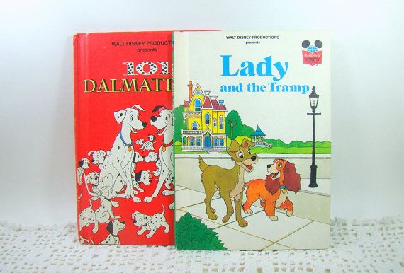 1980s Lady and the Tramp and 101 Dalmatians Disney Books, Walt Disney Book Club Edition, Disney Dogs Set of Two Vintage Childrens Books on Etsy, $12.00