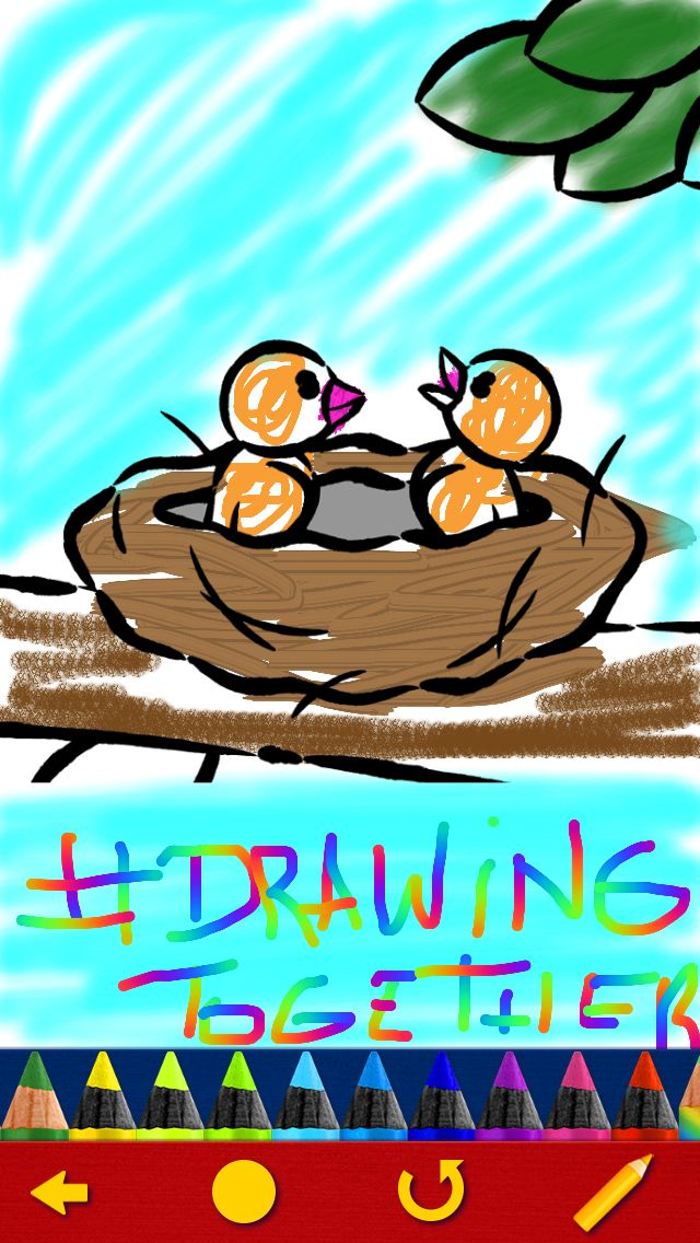 Send us your 'Drawing Together' creations and we'll display them on this Pinterest board! :D