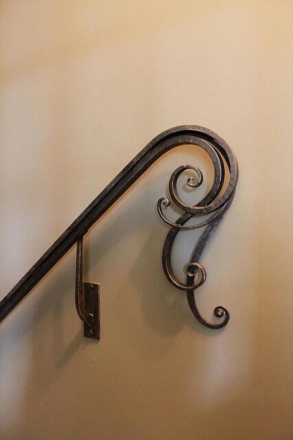.Wrought Iron Handrail detail | Artisan: Mark J. Hopper, Designer Blacksmith, The Goat Farm, Atlanta, GA, USA | www.goatnhammer.com