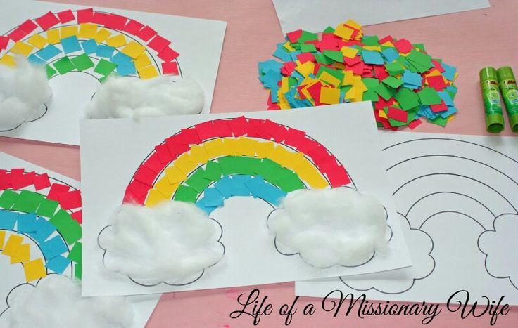 Regenboog met wolkjes
