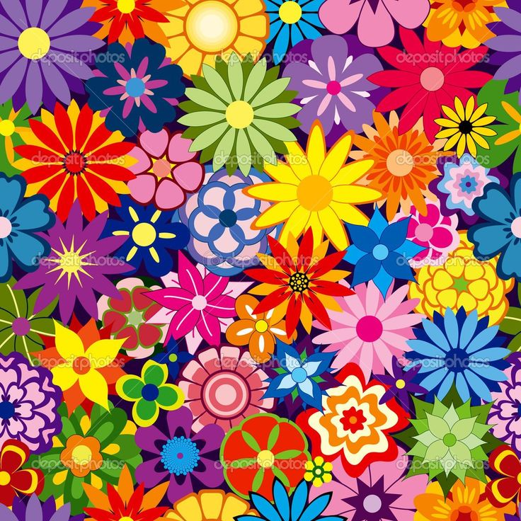 colorful floral background patterns - photo #24