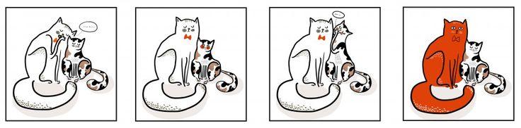 Agamy a beaucoup aimé le dessin d'Auriane BUI de l'Ecole Emile Cohl pour 'le Chat Rouge'
