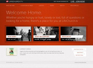 a great church website design example that would impress those looking for something modern or traditional